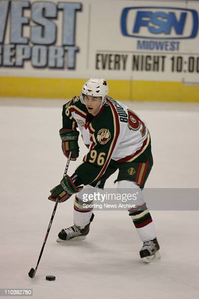 Mar 10 2006 St Louis MO USA The Minnesota Wild PierreMarc Bouchard against the St Louis Blues at the Savvis Center in St Louis MO The Wild won 2 1 on...