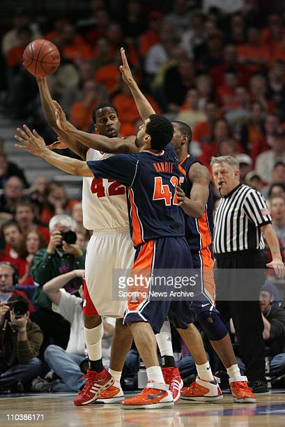 Mar 10 2007 Chicago IL USA Illinois BRIAN RANDLE against Wisconsin ALANDO TUCKER during the Big Ten Tournament at the United Center in Chicago Ill on...
