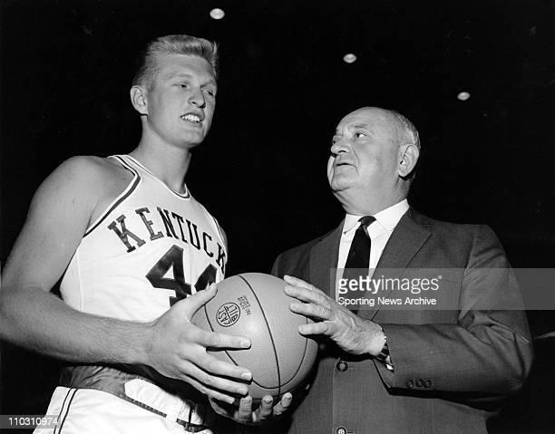 Mar 11 1954 Louisville KY USA Kentucky coach Kentucky coach ADOLPH RUPP and sophomore CHARLES NASH