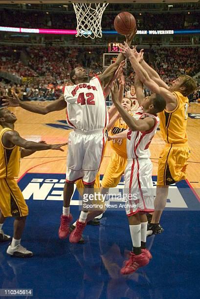 Mar 12 2005 Chicago IL USA #42 Alando Tucker at Wisconsin vs Iowa during the Big Ten tournament in Chicago Illinois