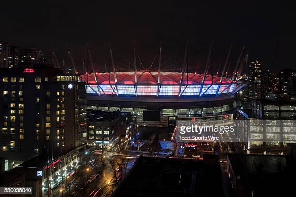Place at night before the Pool matches at the Canada Sevens held March 12-13, 2016 at BC Place in Vancouver, BC.