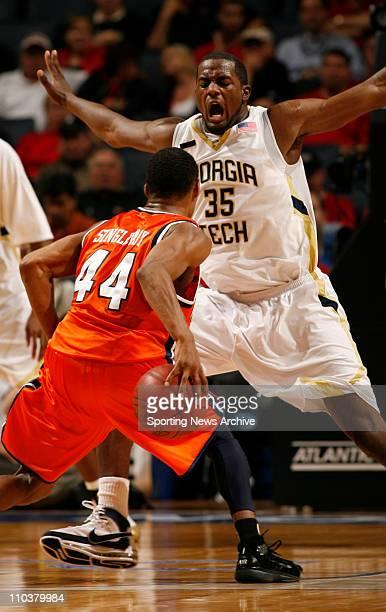 Mar 13, 2008 - Charlotte, North Carolina, USA - Georgia Tech ZACK PEACOCK against Virginia SEAN SINGLETAR during the Atlantic Coast Conference ACC...