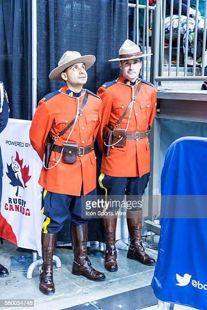 Mounties on duty at BC Place during the Cup Final match between New Zealand and South Africa at the Canada Sevens held March 1213 2016 at BC Place in...