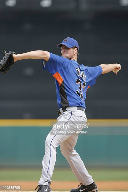 Mar 14 2007 Lakeland FL USA MLB Baseball Detroit Tigers against New York Mets John Maine at the Tigers spring training facility Joker Marchant...