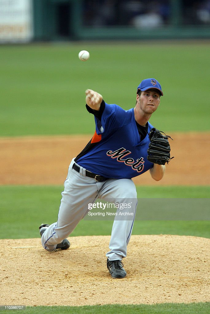 Mar 14, 2007 - Lakeland, FL, USA - MLB Baseball: Detroit Tigers against New York Mets John Maine at the Tigers spring training facility, Joker Marchant Stadium in Lakeland. Tigers beat Mets 2-0.
