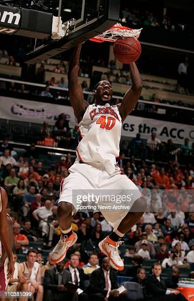 Mar 14, 2008 - Charlotte, North Carolina, USA - Clemson JAMES MAS against Boston College during the 2008 Atlantic Coast Conference ACC basketball...