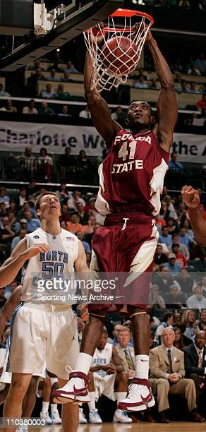 Mar 14, 2008 - Charlotte, North Carolina, USA - North Carolina against Florida State UCHE ECHEFU during the 2008 Atlantic Coast Conference ACC...