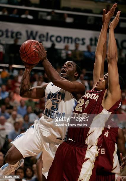 Mar 14, 2008 - Charlotte, North Carolina, USA - North Carolina T LAWSON against Florida State during the 2008 Atlantic Coast Conference ACC...