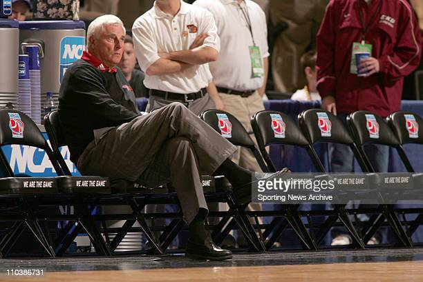 Mar 15 2007 WinstonSalem NC USA Texas Tech head coach Bob Knight against Boston College during the first round of the NCAA basketball tournament at...