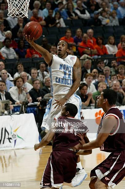 Mar 15, 2008 - Charlotte, North Carolina, USA - North Carolina QUENTIN THOMAS against Virginia Tech during the 2008 Atlantic Coast Conference ACC...