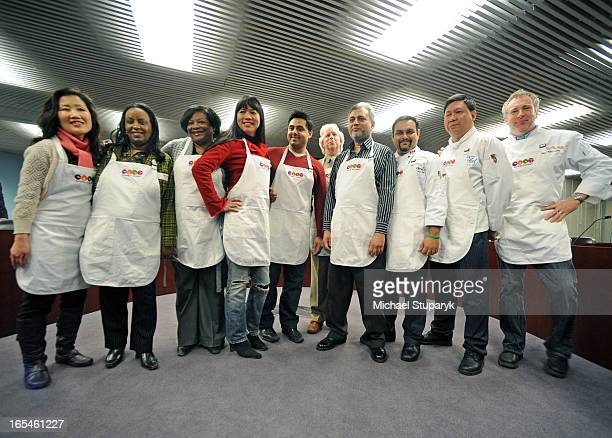 Mar 17 2009 New vendors left to rt Young Jin Kim Andnet Zere Bridgette Pinder Nancy Senawong Azim Lila Seemab Ahmad Chef Suman Roy Chef Oliver Li and...