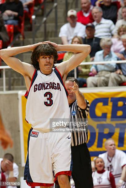 Mar 18 2006 Salt Lake City UT USA NCAA BASKETBALL Indiana Hoosiers against the Gonzaga Bulldogs Adam Morrison during second round of the NCAA...