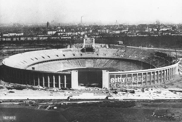 General view of the Olympic Stadium during construction before the 1936 Olympic Games in Berlin Mandatory Credit IOC Olympic Museum /Allsport