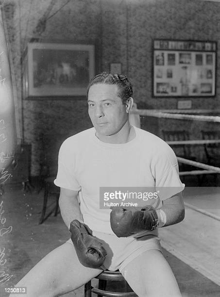 American Boxer Max Baer seen in the gym in London preparing for his fight against the Welshman Tommy Farr to whom he would los eon points World...