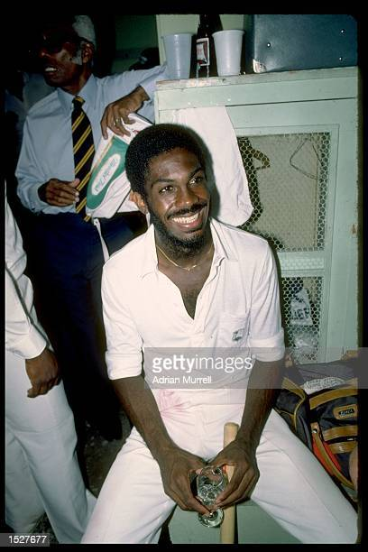 A portrait of Michael Holding of the West Indies in the dressing room after the third test against England in Barbados Mandatory Credit Adrian...