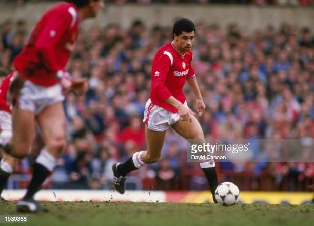 Paul McGrath of Manchester United in action during the FA Cup sixth round match against West Ham United at Old Trafford in Manchester Man Utd went...
