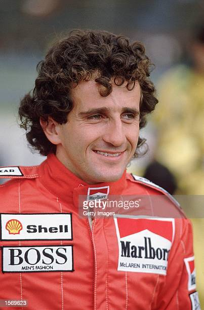 Portrait of MarlboroMcLaren driver Alain Prost of France during the Brazilian Formula One Grand Prix held in Rio De Janeiro Brazil Picture taken by...