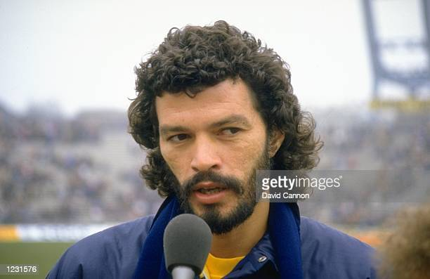 Portrait of Socrates of Brazil after a match against Hungary in Hungary Hungary won the match 30 Mandatory Credit David Cannon/Allsport