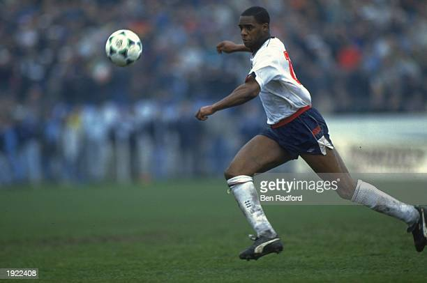 Dalian Atkinson of England B in action during a match against Ireland in Ireland Mandatory Credit Ben Radford/Allsport