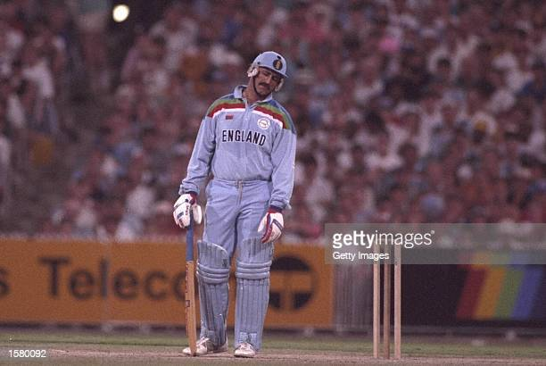 Graham Gooch Of England Is Dismissed During The World Cup Final Against Pakistan Played At