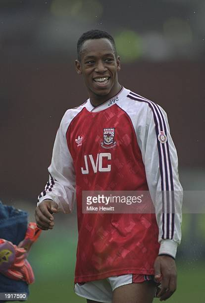 Portrait of Ian Wright of Arsenal before an FA Carling Premier League match against Wimbledon at Selhurst Park in London. Arsenal won the match 3-1....