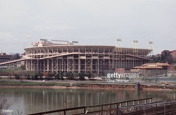 A view from the river outside Neyland Stadium during a University of Tennessee Vols game in Knoxville Tennessee Mandatory Credit Doug...