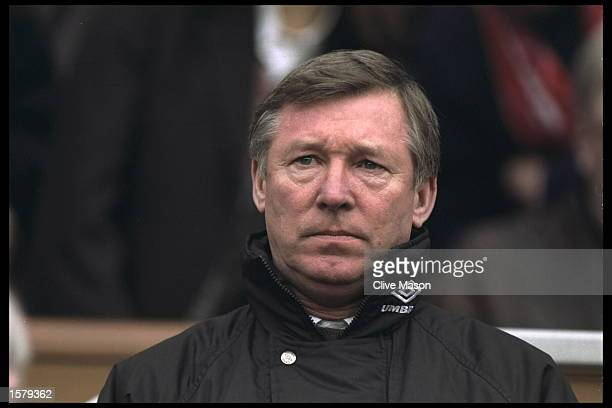 A portrait of Alex Ferguson the manager of Manchester United
