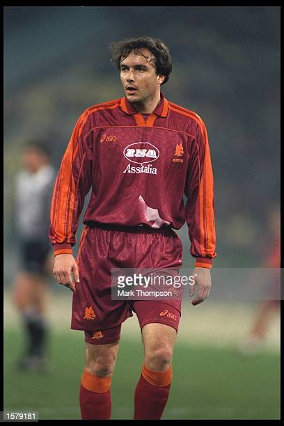 Abel Balbo of Roma in action during the UEFA Cup quarterfinal against Sparta Prague