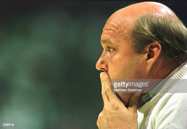Head coach Rick Majerus of the Utah Utes looks on from the sideline during the first half of the NCAA Midwest Regional Tournament game against the...