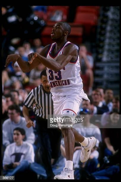 Kobe Bryant passes the ball during the McDonald''s AllAmerican at the Civic Arena in Pittsburgh Pennsylvania Mandatory Credit Doug Pensinger /Allsport