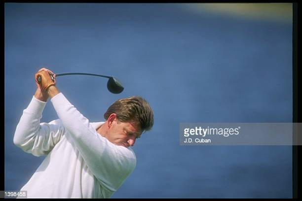 Nick Price of South Africa prepares to swing at the Honda Classic at TPC at Eagle Trace in Fort Lauderdale Florida Mandatory Credit JD Cuban /Allsport