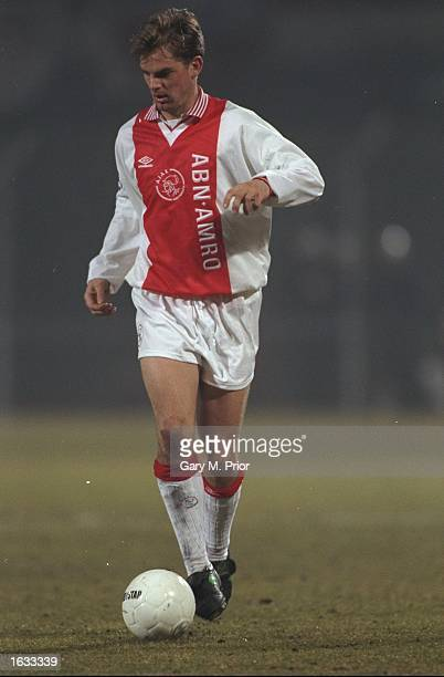 Ronald De Boer of Ajax in action during a Champions League match against Borussia Dortmund at the Olympic Stadium in Amsterdam Holland Mandatory...