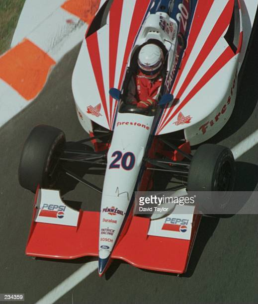Scott Pruett current leader of the Indycar series in action in his Patrick Racing Lola Ford T96/00 during practice for the FAI IndyCar Grand Prix...