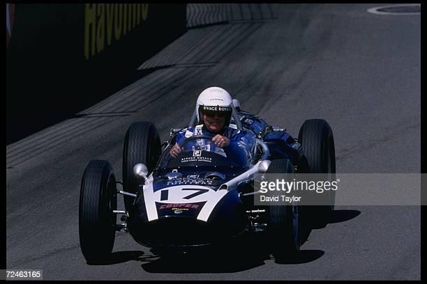 Sir Jack Brabham of Australia performs in the Surfer's Paradise event of the Indycar Australia series Mandatory Credit David Taylor /Allsport