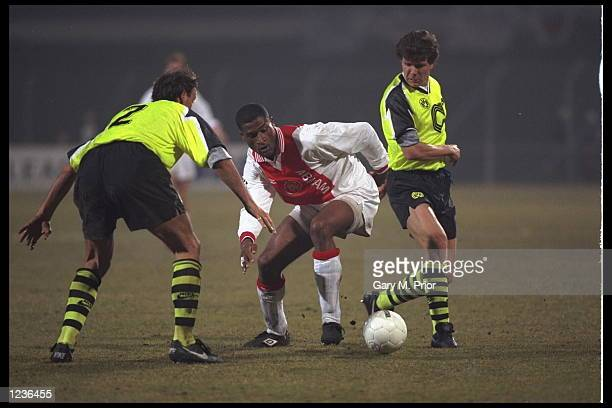 Winston Bogarde of Ajax in action during the Champions League game against Borussia Dortmund