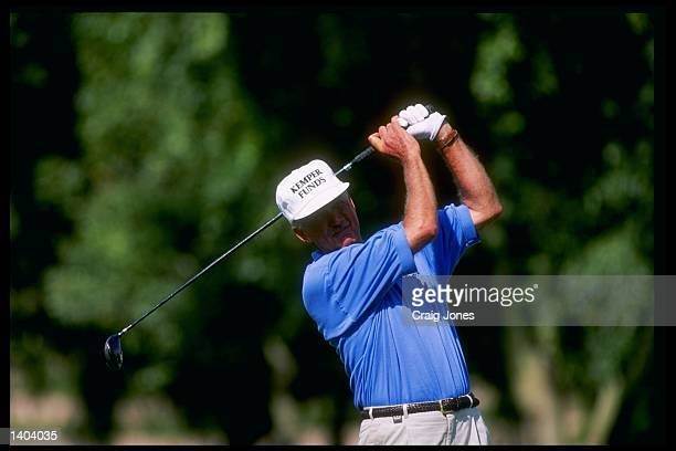 Al Geiberger eyes his shot during the Liberty Mutual Legends of Golf at the PGA West Arnold Palmer Course in La Quinta California Mandatory Credit...