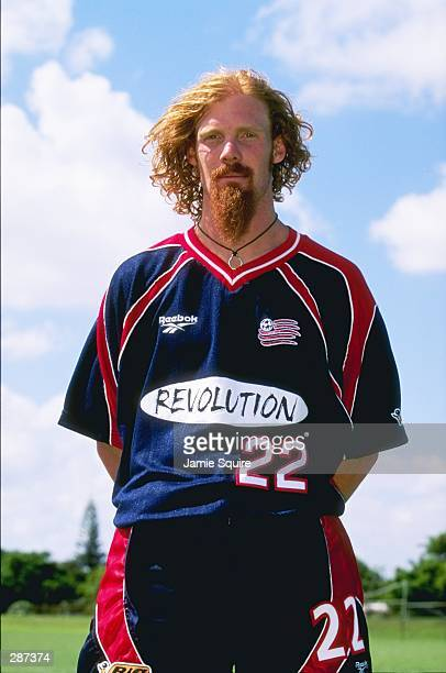 Alexi Lalas of the New England Revolution poses for an individual photo during practice training in Miami Florida Mandatory Credit Jamie Squire...