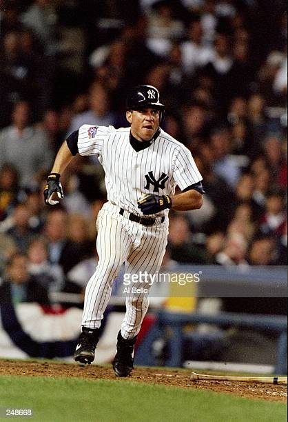 Andy Fox of the New York Yankees in action during the Yankees 86 win over the Cleveland Indians at Yankee Stadium in the Bronx New York Mandatory...