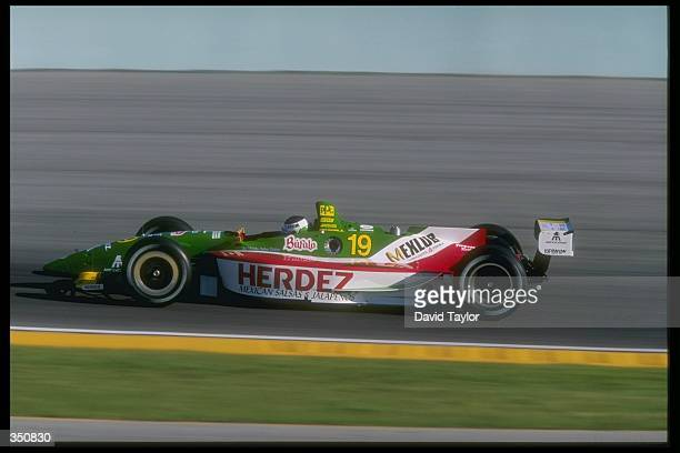 CART driver Michel Jourdain Jnr of Mexico in action for Payton Coyne Racing in his Lola Ford T97/00 during practice for the Marlboro Grand Prix of...