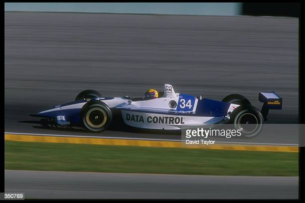 CART driver Roberto Moreno of Brazil in action for Payton Cone Racing in his Lola Ford T97/20 during practice for the Marlboro Grand Prix of Miami at...
