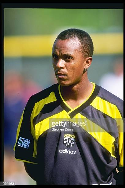 Doctor Khumalo of the Columbus Crew stands on the field during a game against the Tampa Bay Mutiny at the Eddie C Moore Complex in Clearwater Florida...