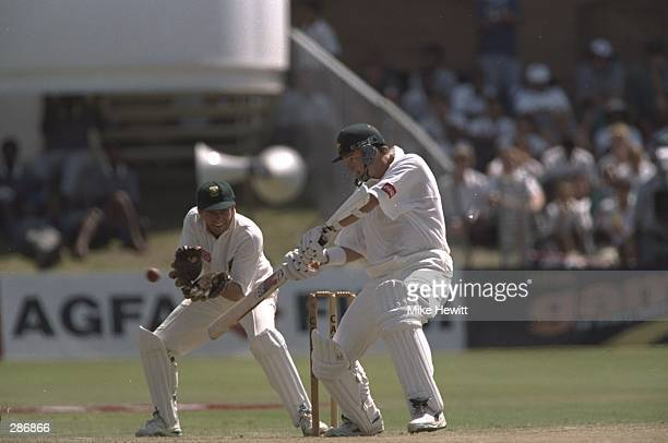 Mark Waugh of Australia in action during the second test match against South Africa at Port Elizabeth South Africa Mandatory Credit Mike Hewitt...