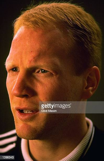 Portrait of footballer Matthias Sammer of Germany during an Adidas Commerical Shoot in London Mandatory Credit Clive Mason/Allsport