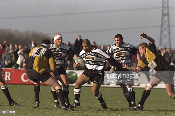 Va''aiga Twigamala of Newcastle in action during the Courage League Division Two match against Wakefield at Kingston Park Newcastle Newcastle won...