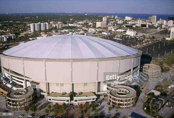 A general view of Tropicana Field home to the Tampa Bay Devil Rays in St Petersburg Florida Mandatory Credit Scott Halleran /Allsport