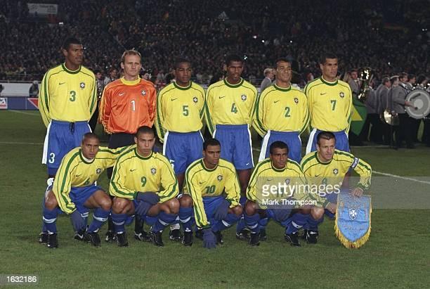 Groupshot of the Brazil team before the International friendly at the Neckarstadion in Stuttgart in Germany. Brazil won 2-1. \ Mandatory Credit: Mark...