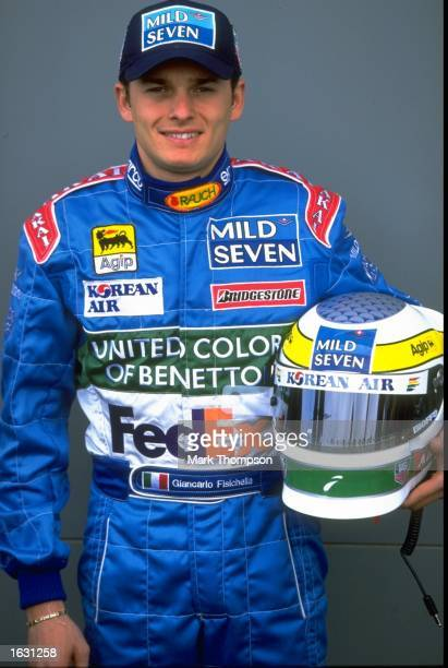 Benetton driver Giancarlo Fisichella of Italy in team colours before the Australian Grand Prix at Albert Park in Melbourne Australia Mandatory Credit...