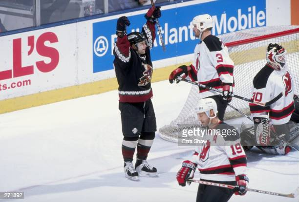 Center Cliff Ronning of the Phoenix Coyotes in action during a game against the New Jersey Devils at the Continental Airlines Arena in East...