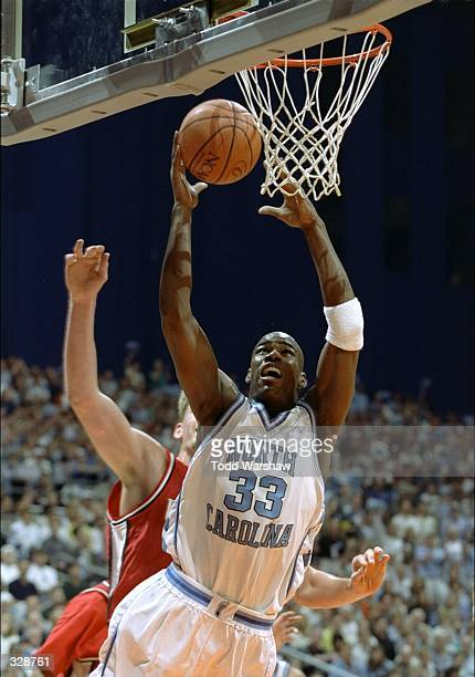 Forward Antawn Jamison of the North Carolina Tar Heels in action during a playoff game against the Utah Utes at the Alamodome in San Antonio, Texas....