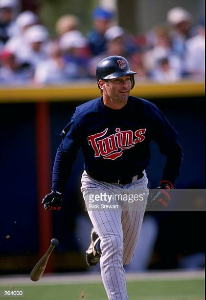 Infielder Paul Molitor of the Minnesota Twins in action during a spring training game against the Texas Rangers at the Charlotte County Stadium in...